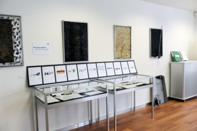 Ausstellung der Zeix Logoentwicklung.