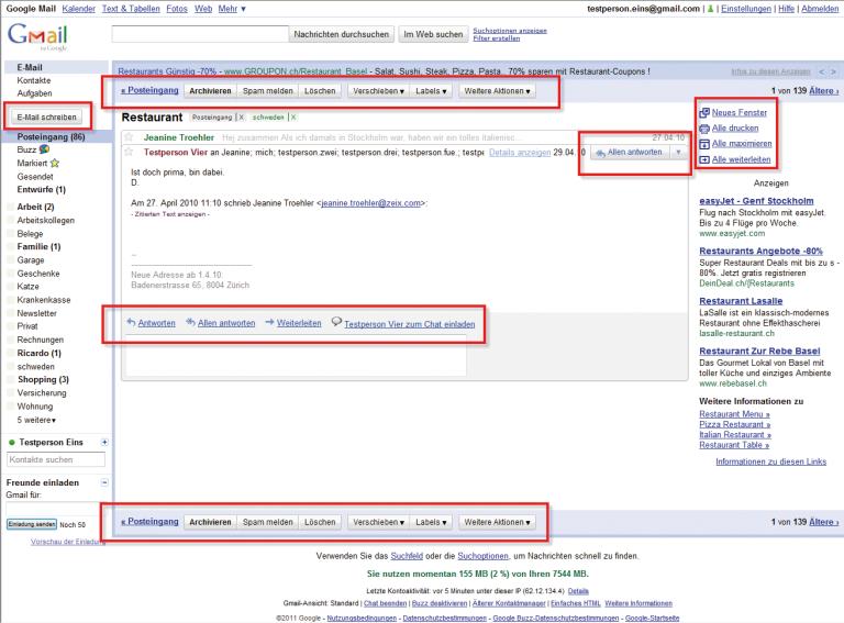 Funktionschaos bei Gmail: Das Weiterleiten von E-Mails wird für Erstnutzer zur Quizfrage.