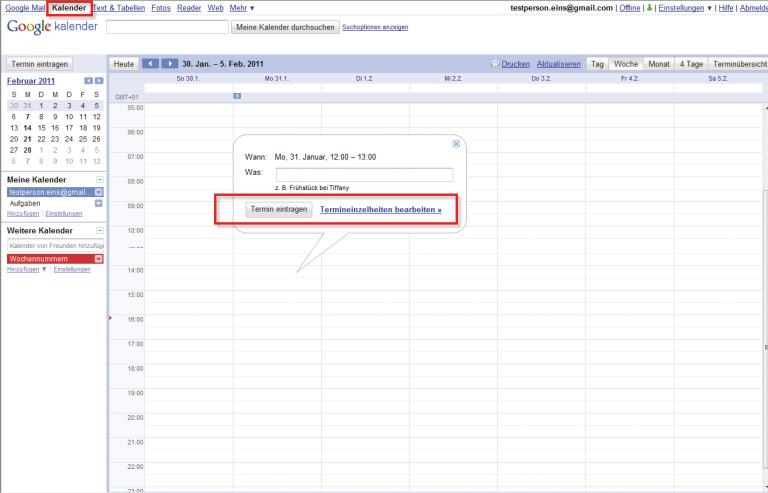 Das Vorgehen beim Einladen von Personen im Kalender ist wenig intuitiv.