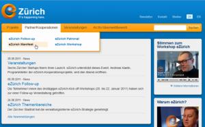 Startseite eZuerich.