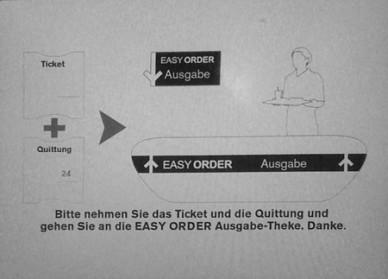 McDonalds Automat: Easy-Order Abschluss