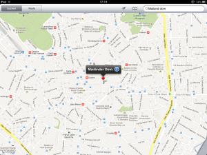 Screenshot von Google Maps mit dem Suchtreffer zu «Mailand Dom»