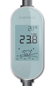 Amphirogerät misst 28°. Es wurden 23.8 Liter Wasser verbraucht. Der Eisbär ertrinkt, weil seine Eisscholle schmilzt.