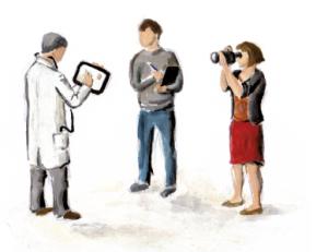 Szene aus dem E-Health-Poster