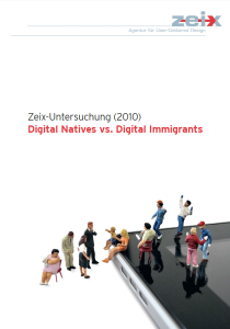Cover der Praxisstudie «Digital Natives vs. Immigrants»