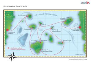 Infografik Seekarte für User-Centered Design