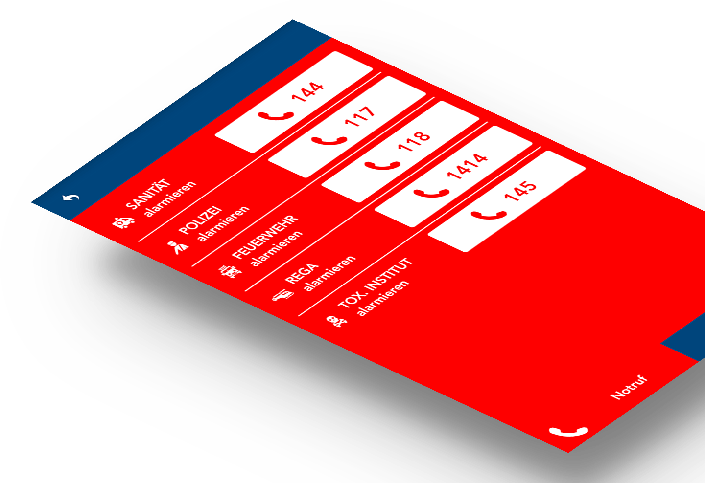 Referenz-Notfallapp