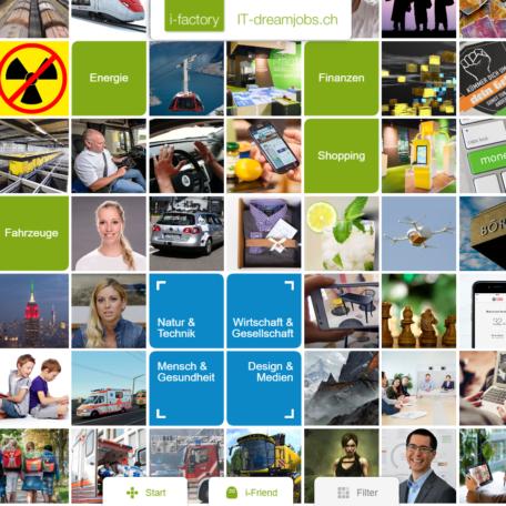 Screenshot der der bildreichen Startseite von it-dreamjobs.ch