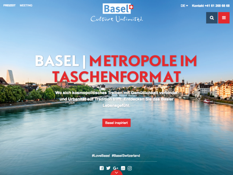 Screenshot von basel.com auf dem Desktop