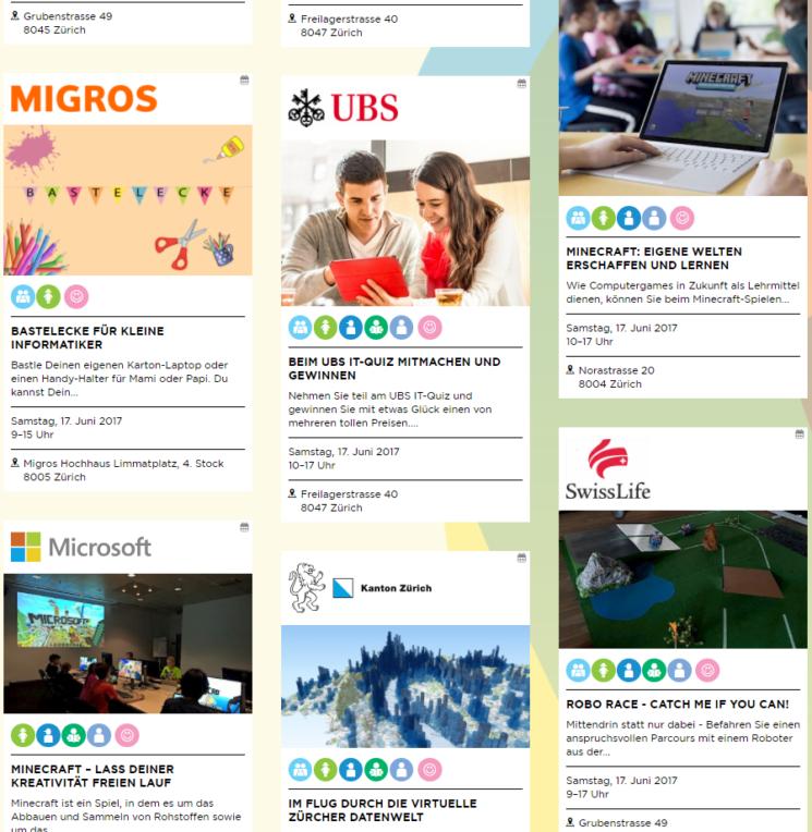 Veranstaltungsübersicht IT-Tage aus dem Programm 2017
