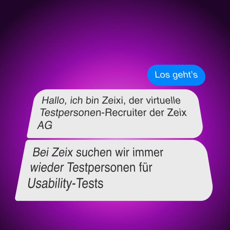 Screenshot Zeix Chatbot