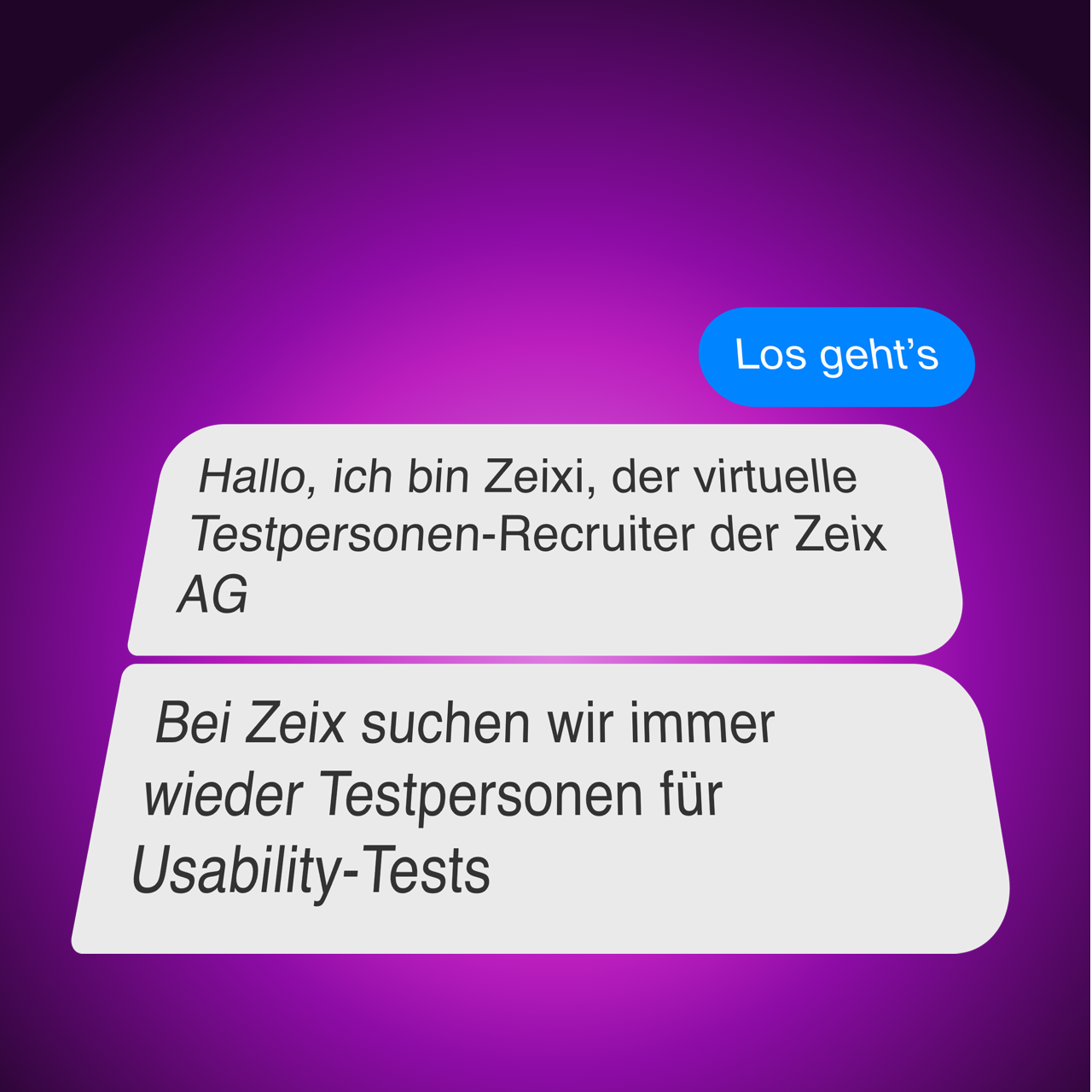 Screenshot Zeix Chatbot