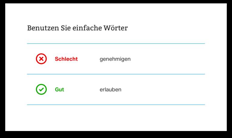 Illustrationen aus «Die Regeln für Leichte Sprache» vom Netzwerk Leichte Sprache, Deutschland