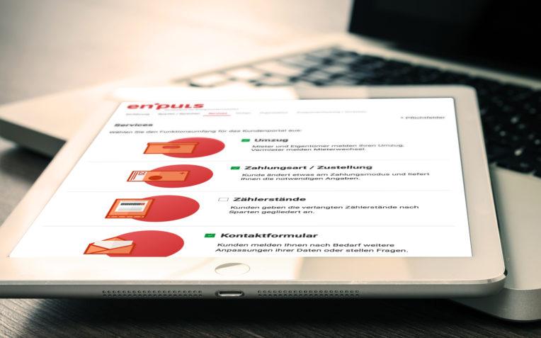 Konfigurator für ein Kundenportal in der Energiebranche