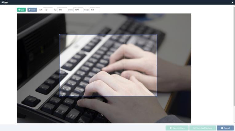 Bild zuschneiden direkt im Browser / CMS.