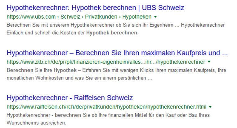 Treffer von UBS, ZKB und Raiffeisenbank