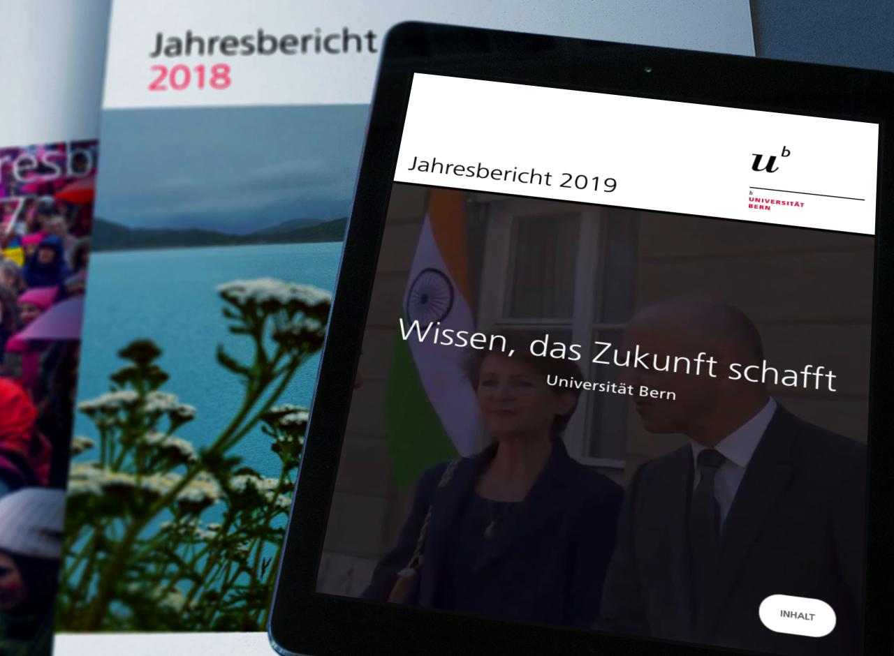 Digitaler Jahresbericht der Universität Bern