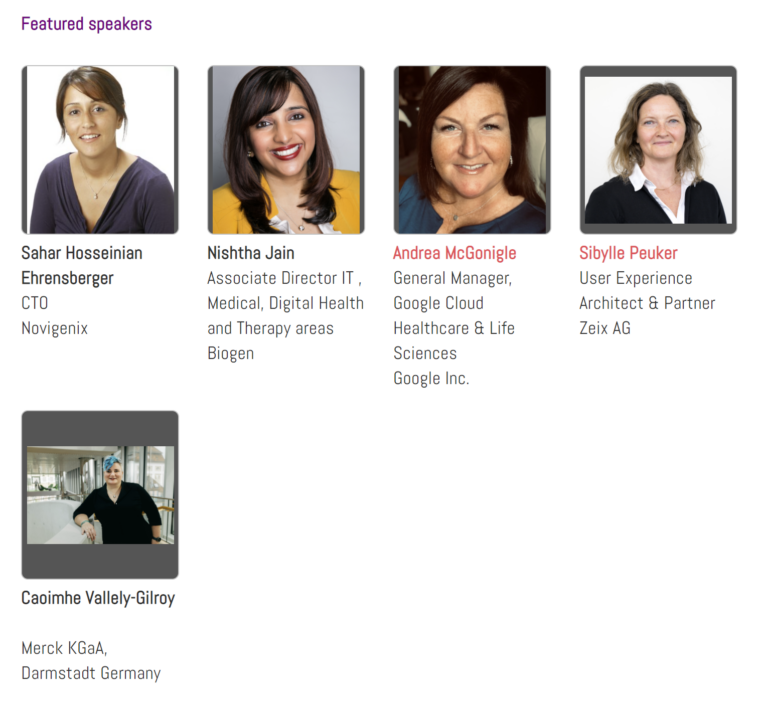 Fotos der Expertinnen Sahar Hosseinian, Nishtha Jain, Andrea McGonigle, Sibylle Peuker, Caoimhe Vallely-Gilroy