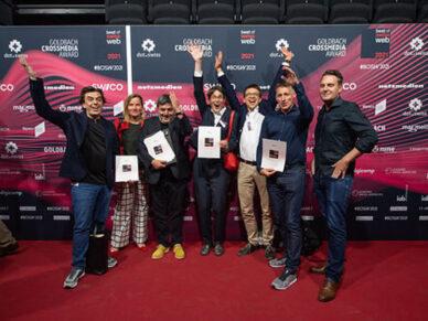 Gewinnerteam vom Kanton Zürich, Zeix und Unic beim Best of Swiss Web Award